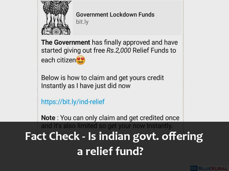 Is Indian government giving a relief fund?